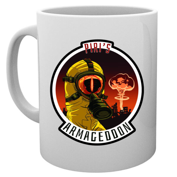 Piri Armageddon Hot Sauce Coffee Mug : Artwork by B.S.