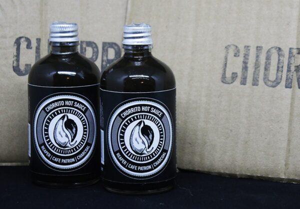 HOT SAUCE / BATCH #13, Reaper, Cafe Patron & Charcoal 100ml : Chorrito Hot Sauce / Heat Level 10/10
